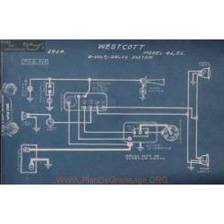 Westcott 41 51 6volt Schema Electrique 1916 Delco