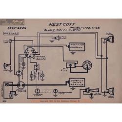 Westcott C38 C48 6volt Schema Electrique 1919 1920 Delco V2