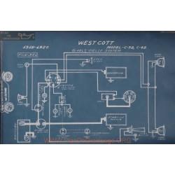 Westcott C38 C48 6volt Schema Electrique 1919 1920 Delco
