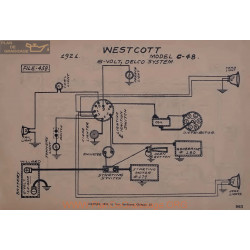 Westcott C48 6volt Schema Electrique 1921 Delco
