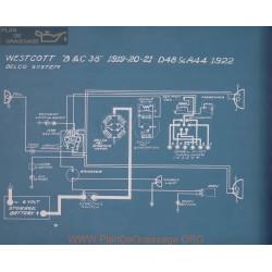 Westcott D48 R44 Schema Electrique 1922