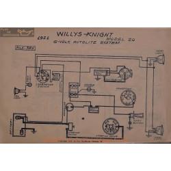 Willys Knight 20 6voly Schema Electrique 1921 Autolite