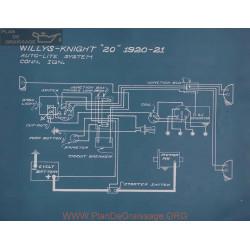 Willys Knight 20 Schema Electrique 1920 1921