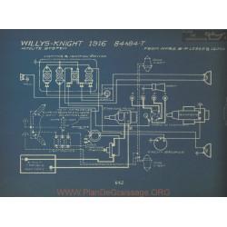 Willys Knight 84 84t Schema Electrique 1916 Autolite