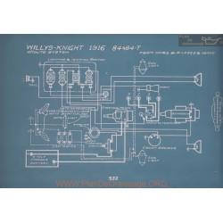 Willys Knight 84 84t Schema Electrique 1916 V2