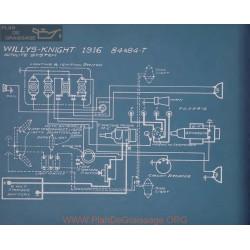 Willys Knight 84 84t Schema Electrique 1916