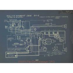 Willys Knight 84c Schema Electrique 1916 Autolite