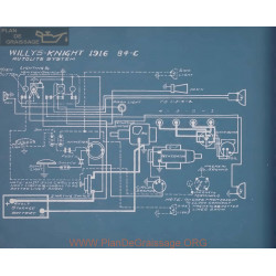 Willys Knight 84c Schema Electrique 1916