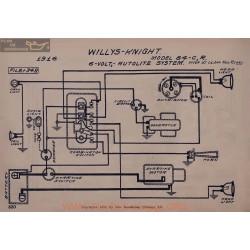Willys Knight 84cr 6volt Schema Electrique 1916 Autolite