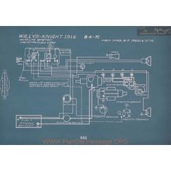 Willys Knight 84r Schema Electrique 1916 V2