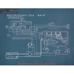 Willys Knight 84r Schema Electrique 1916