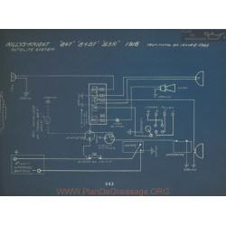Willys Knight 84t 84bt 83r Schema Electrique 1916 Autolite