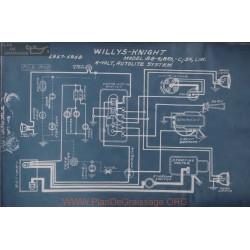 Willys Knight 88 4 Bro C Sn Lim 6volt Schema Eelctrique 1917 1918 Autolite