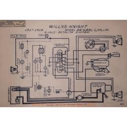 Willys Knight 88 4 C Bro Sn Lim 6volt Schema Electrique 1917 1918 Autolite