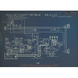 Willys Knight 88 4 Lim Schema Electrique 1917 1918 Autolite