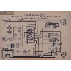 Willys Knight 88 4 Schema Electrique 1917 1918 Autolite