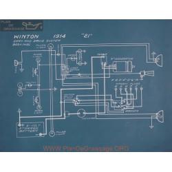 Winton 21 Schema Electrique 1914