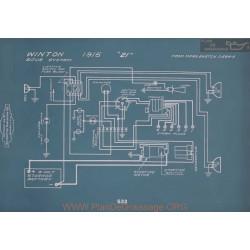 Winton 21 Schema Electrique 1915 V2