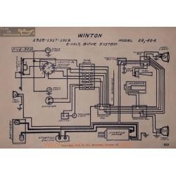 Winton 22 22a 6volt Schema Electrique 1916 1917 1918 Bijur V2