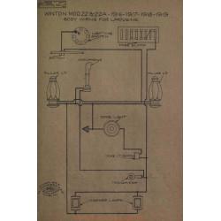 Winton 22 22a Limousine Schema Electrique 1916 1917 1918 1919