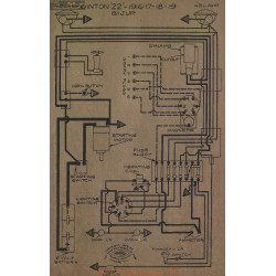 Winton 22 Schema Electrique 1916 1917 1918 1919 Bijur