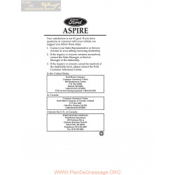 Ford 1997 Aspire User Manual