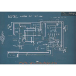 Winton 22 Schema Electrique 1917 1918