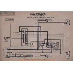 Columbus 16volt Schema Elctrique 1913 Northeast