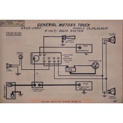 General Motors 16 25 26 30 31 6volt Schema Electrique 1919 1920 Delco