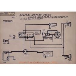 General Motors Truck 15 25 26 30 31 40 41 70 71 100 101 6volt Schema Electrique 1917 Delco V2