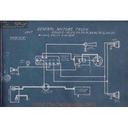 General Motors Truck 15 25 26 30 31 40 41 70 71 100 101 6volt Schema Electrique 1917 Delco