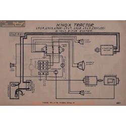 Knox Tractor 6volt Schema Electrique 1914 1915 1916 1917 1918 1919 1920 1921 Bijur