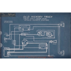 Old Hickory Truck 12volt Schema Electrique 1916 1917 1918 1919 Dyneto