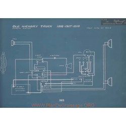 Old Hickory Truck Schema Electrique 1916 1917 1918