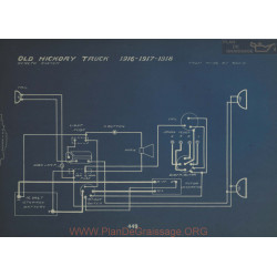 Old Hickory Truck Schema Electrique 1916 1917 1918 Dyneto