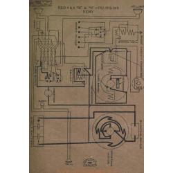 Reo 4cyl 6cyl M N Schema Electrique 1917 1918 1919 Remy