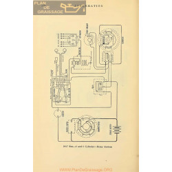 Reo 4cyl 6cyl Schema Electrique 1917 Remy