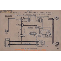 Reo 6 F20 F21 6volt Schema Electrique 1920 1921 North East Remy