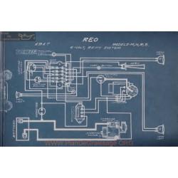 Reo M N R S 6volt Schema Electrique 1917 Remy