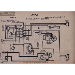 Reo M N R S F T 6volt Schema Electrique 1917 Remy