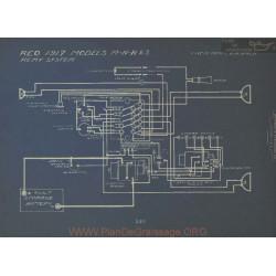 Reo M N R S Schema Electrique 1917 Remy