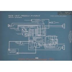Reo M N R S Schema Electrique 1917 V2