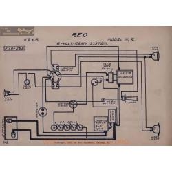 Reo M R 6volt Schema Electrique 1915 Remy V2