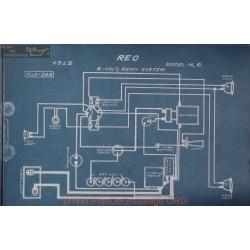 Reo M R 6volt Schema Electrique 1915 Remy