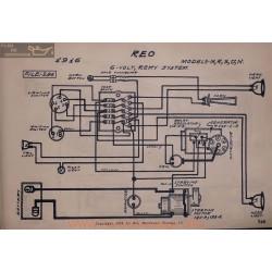 Reo M R S U N 6volt Schema Electrique 1916 Remy