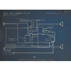 Reo R M Schema Electrique 1915 Remy