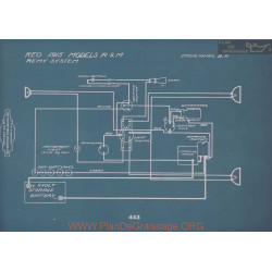 Reo R M Schema Electrique 1915 V2