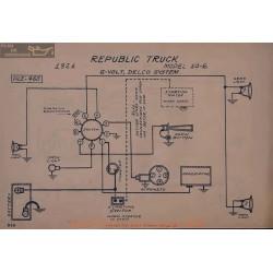 Republic Truck 10e 6volt Schema Electrique 1921 Delco