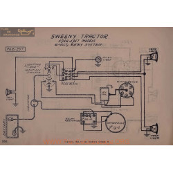 Sweeny Tractor 6volt Schema Electrique 1916 1917 Remy