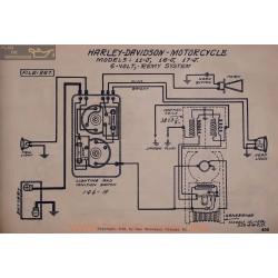 Harley Davidson Motorcycle 11j 16j 17j 6volt Schema Electrique Remy
